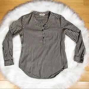 Isabel Marant Etoile Striped 1/4 button Popover Sm